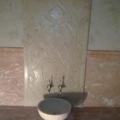 Изготовление для хаммамов резных узоров на мраморе