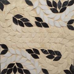 Образец мраморной мозаики с затиркой