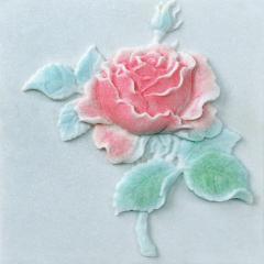 Мраморный декор с покраской