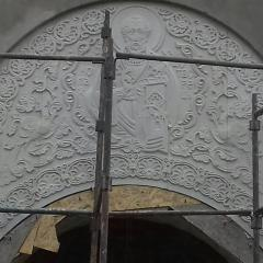 Панно из песчаника для Храма