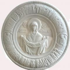"Икона из мрамора ""Покрова Божьей матери"""