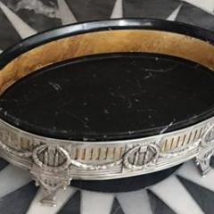 Конфетница в серебряной антикварной оправе