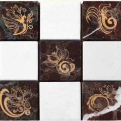 Мозаика с гравировкой