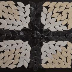 """Мозаика """"Водяные лилии крест"""" обработана под антик. Ручная работа"""