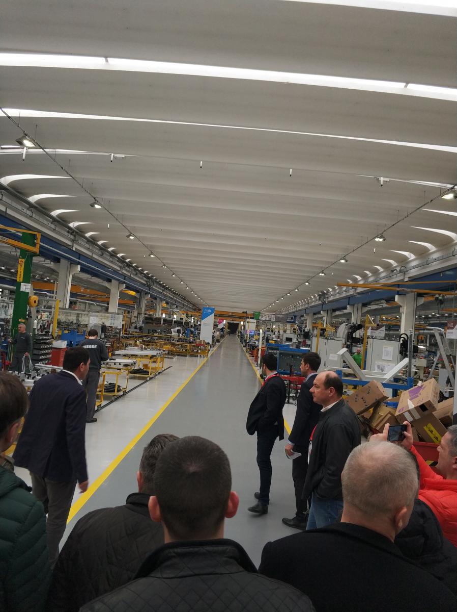 Экскурсия по заводу Intermac